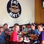 Hanging w the family at Fat Katz
