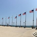 Flags at the end of the Pier
