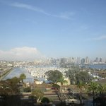 View of downtown San Diego from room in Marina Tower