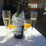 champagne served at breakfast fior hubbys birthday