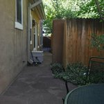 unenclosed private patio