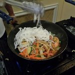 Chef Tony preparing my Chow Mein