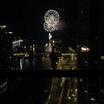 Fireworks from the room