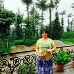 My wife, Molly at Aapo Aap Home Stay, Shimla