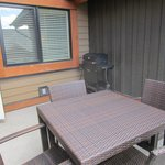patio with a grill