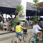 The Beach House Bar taken from the front of the resort. Great food & excellent service. Bikes ar