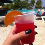 One of the many nice drinks they offer here from the Pool Bar