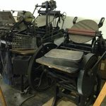 Old printing equipment at the Epitaph Museum