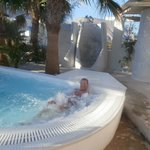 Jacuzzi by pool