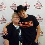 Clay Copper & myself after the show picture.