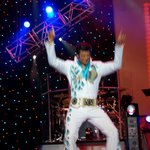 Elvis is in the groove.