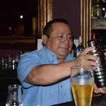The friendliest barman in Mexico! 'Ma'lob ak'ab' Bernard Azul Beach