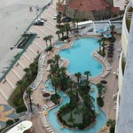 View of pool 1 & lazy river from our balcony!