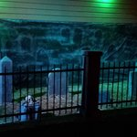 The Klondike patio, all dressed up for Halloween