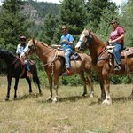 Riding at the Rapp Corral. Thanks to our guide for the photo!