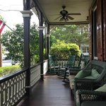 View of the Porch from Our Private Breakfast Table