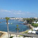 View of Paphos harbour from our room