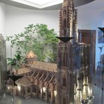 Amazing scale model of the cathedral in hotel lobby