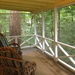 The Bentwood screened porch high in the trees