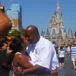 A Kiss in front of Cinderella's Castle!