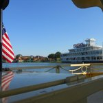 A view of Downtown Disney and Fulton's Crab House from a Water Taxi