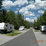 The full service RV area at Tunnel Mountain