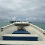 The boat ride over to the cay