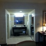 Wash room, mirror door closet, coffee maker etc. King suite w/sofa bed.