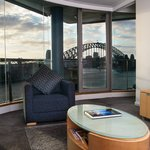 Living room in one bedroom Harbour view suite