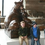 Friends in front of the bears!