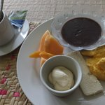 breakfast typical from guatemala at the hotel