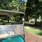Golf cart and cottage