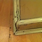 The state of the skirting boards