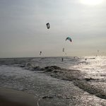 Kite surfers in the North Sea