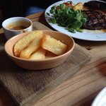 Mahoosive chips with Ribeye steak