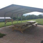 outdoor picnic table with electric