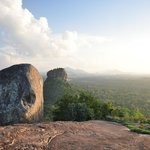 "on ""Lions Rock"" looking on to Sigiriya rock"