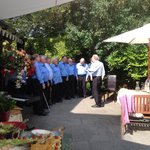 Welsh Male choir at the garden party