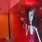my room with cool murale