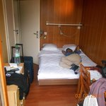 This is the small double room - it is VERY small, about the size of an inside cabin on a cruise