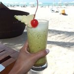 pineapple, ginger, passion fruit drink at the beach bar- i still miss this one!