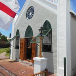 The white washed church dates back to 1620