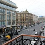 This is the north view from the balcony of my room. As you can see, Nevsky Prospekt is just a co