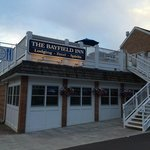 The Bayfield Inn entrance-note the rooftop bar