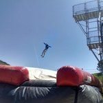 Bag jump at the bottom of the resort winter and summer!!