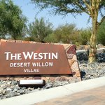 The entrance to Westin Desert Willow Villas