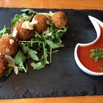 Deep fried risotto balls