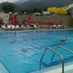 The pool and its great mountain view