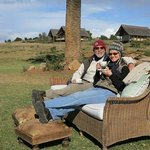 Relaxing in the winter sun after a game drive