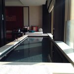 Window side Pool in our suite